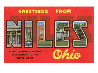 Greetings from Niles, Ohio