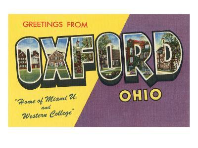Greetings from Oxford, Ohio