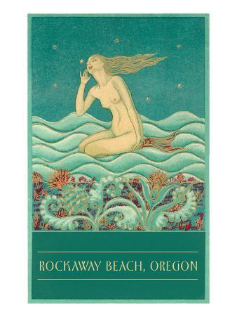 Art Deco Mermaid, Rockaway Beach, Oregon