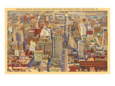 Aerial View, Philadelphia, Pennsylvania
