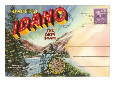Postcard Folder, Beautiful Idaho