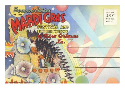 Postcard Folder, Mardi Gras, New Orleans, Louisiana