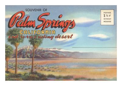 Postcard Folder, Palm Springs, California