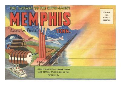 Postcard Folder, Memphis, Tennessee, Down in Dixie