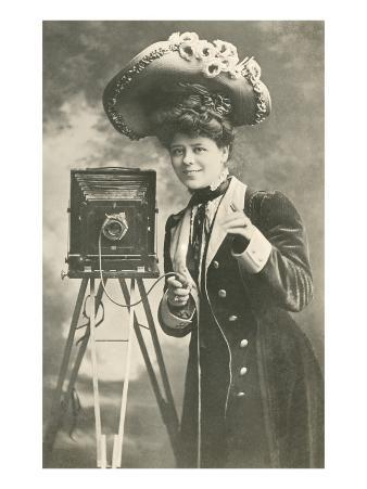 Lady Photographer in Picture Hat
