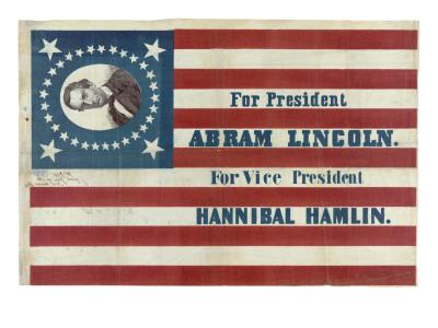 Campaign Flag for Lincoln and Hamlin