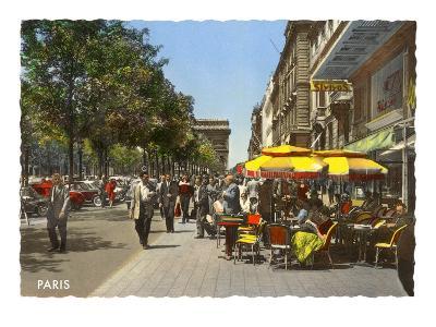 Sidewalk Cafes, Paris
