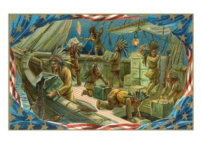 Illustration of Boston Tea Party