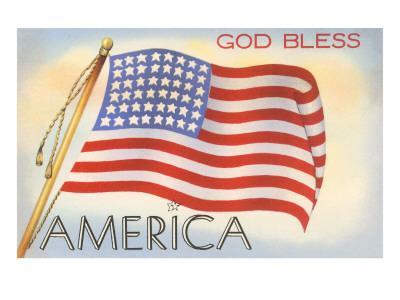 God Bless America Flag Art At Allposterscom