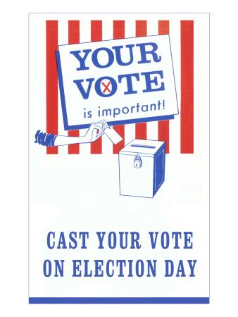 Your Vote is Important Poster