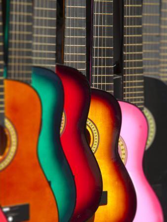 USA, California, Los Angeles, El Pueblo De Los Angeles, Guitars