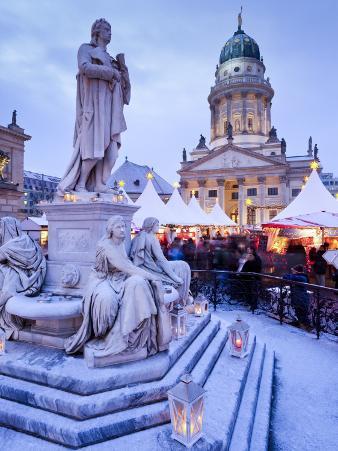 Germany, Berlin, Traditional Christmas Market at Gendarmenmarkt