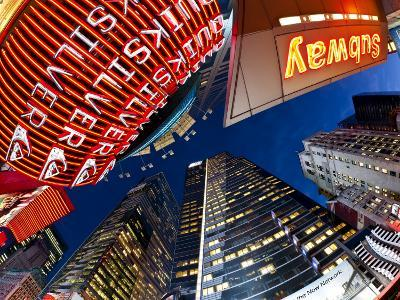 USA, New York City, Manhattan, Times Square, Neon Lights of 42nd Street