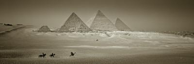 Panormic Image of the Pyramids at Giza, Cairo, Egypt