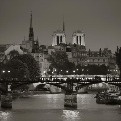 Notre Dame and Pont Des Arts, Paris, France