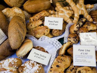 Bread Shop Window, Bergamo, Lombardy, Italy