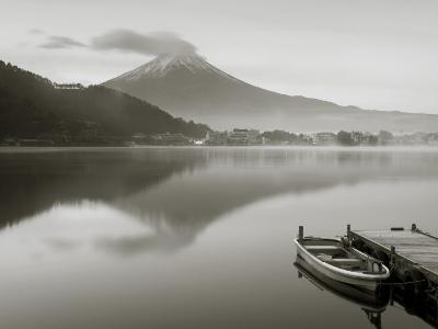 Mt. Fuji and Lake Kawaguchi, Kansai Region, Honshu, Japan
