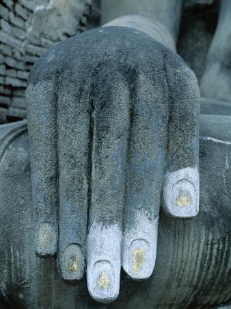 Wat Si Chum / Seated Buddha / Detail of Hand, SUKhothai, Thailand