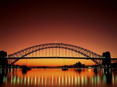 Sydney Harbour Bridge at Sunset, Sydney, New South Wales, Australia