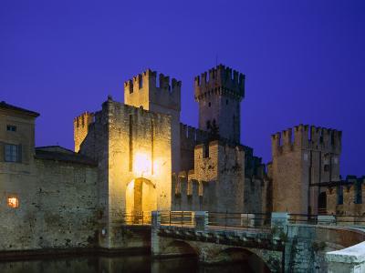 Lake Garda / Rocca Scaligera Castle / Night View, Sirmione, Veneto, Italy