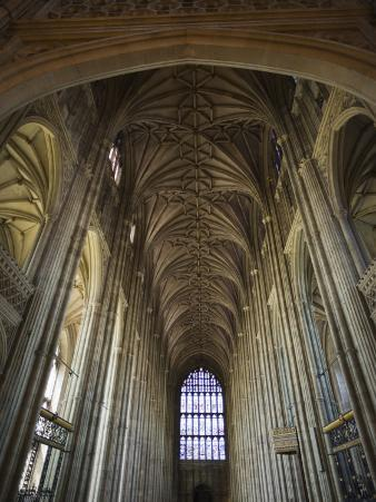 England, Kent, Canterbury, Interior of Canterbury Cathedral