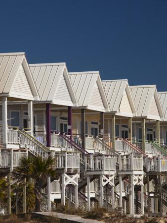 USA, Florida, Florida Panhandle, St. George Island, Beachfront Houses