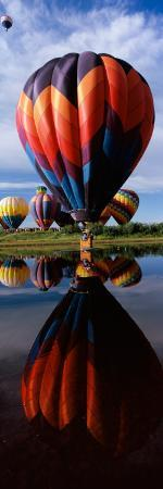 Reflection of Hot Air Balloons in a Lake, Hot Air Balloon Rodeo, Steamboat Springs, Routt County