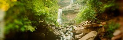 Waterfall in a Forest, Kaaterskill Falls, Catskill Mountains, Hunter, Greene County, New York