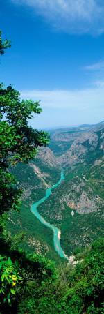 Aerial View of a River, Verdon Gorge, Alpes-De-Haute-Provence, Provence-Alpes-Cote D'Azur, France