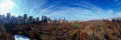 360 Degree View of a City, Central Park, Manhattan, New York City, New York State, USA 2009