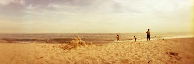 Tourists on the Beach, Rockaway Beach, Rockaway, Queens, New York City, New York State, USA