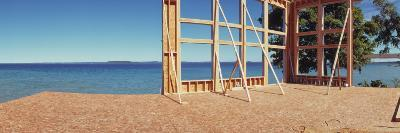 Construction Site at the Coast, Grand Traverse Bay, Grand Traverse County, Michigan, USA