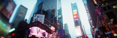 Buildings Lit Up at Dusk, Times Square, Manhattan, New York City, New York State, USA