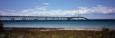 Bridge Across a Lake, Mackinac Bridge, Lake Michigan, Mackinaw City, Michigan, USA