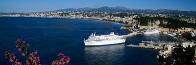 Ship at a Harbor, Nice, Alpes-Maritimes, Provence-Alpes-Cote D'Azur, France