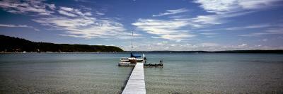 Pier at a Lake, Crystal Lake, Frankfort, Benzie County, Michigan, USA