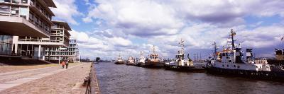 Tugboats in the River, Hamburg Harbour, Elbe River, Hamburg, Germany