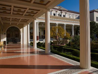 Garden Near the Corridor of an Art Museum, Getty Villa Museum, Pacific Palisades, Los Angeles
