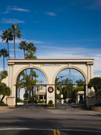 Entrance Gate to a Studio, Paramount Studios, Melrose Avenue, Hollywood, Los Angeles, California