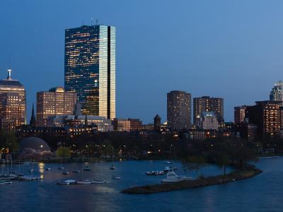Buildings at the Waterfront, John Hancock Tower, Back Bay, Charles River, Boston, Massachusetts