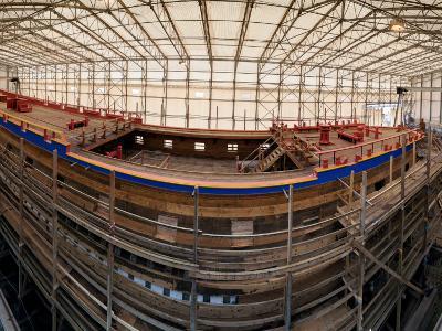 Construction Site of the Ship Hermione, Rochefort, Charente-Maritime, Poitou-Charentes, France