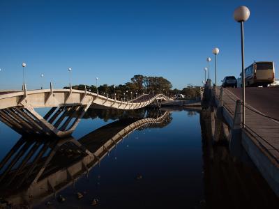Two Bridges Across a River, Leonel Viera Bridge, La Barra, Punta Del Este, Maldonado, Uruguay