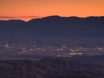 Coachella Valley And Palm Springs From Key's View, Joshua Tree National Park, California, USA