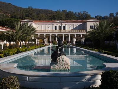Pond in an Art Museum, Getty Villa Museum, Pacific Palisades, Los Angeles, California, USA