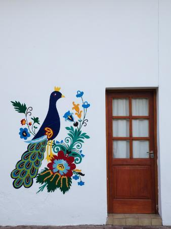 Mural on the Wall of a Chocolate Shop, San Martin De Los Andes, Lake District, Argentina