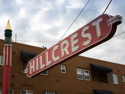 Low Angle View of a Signboard, Hillcrest, San Diego, California, USA