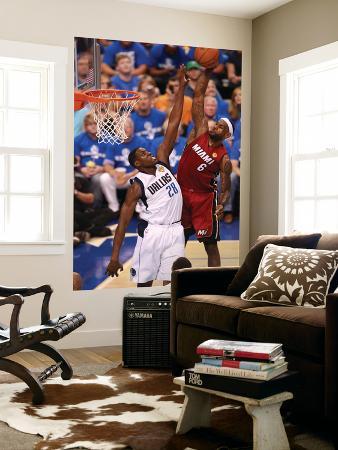 Miami Heat v Dallas Mavericks - Game Three, Dallas, TX -June 5: LeBron James and Ian Mahinmi
