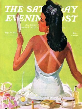 """""""Tan Lines,"""" Saturday Evening Post Cover, September 27, 1941"""