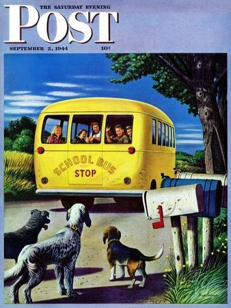 """School Bus,"" Saturday Evening Post Cover, September 2, 1944"