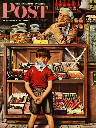 """""""Penny Candy,"""" Saturday Evening Post Cover, September 23, 1944"""